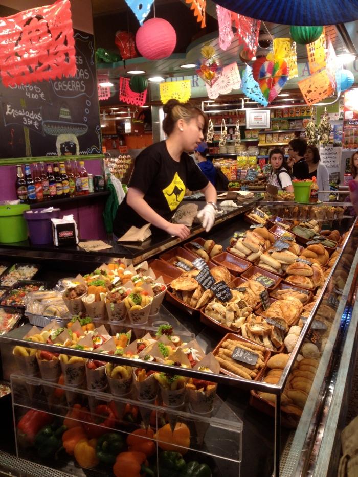 boqueria food stall barcelona