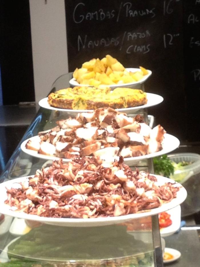 boqueria food stall platters