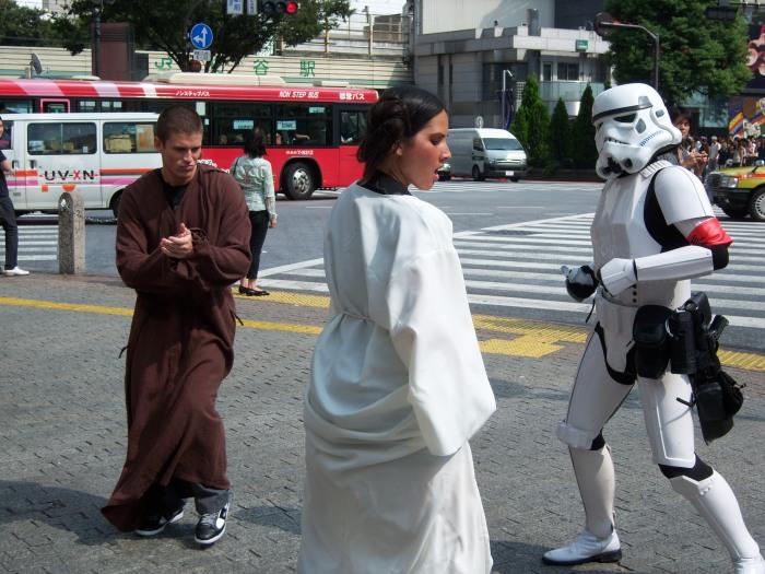 Olivia Munn Dancing Stormtrooper