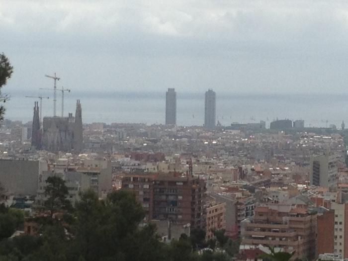 Sagrada Familia Barcelona skyline