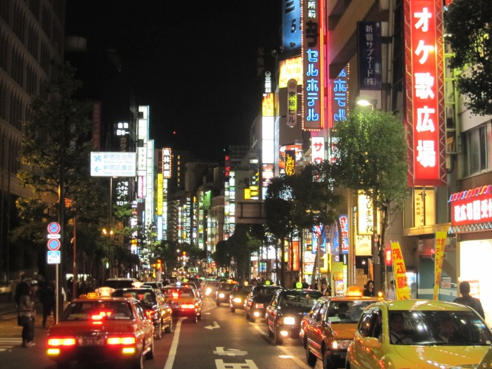 tokyo neon night lights
