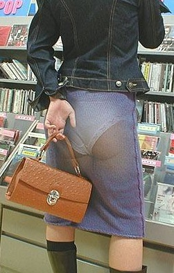 see through naked skirts