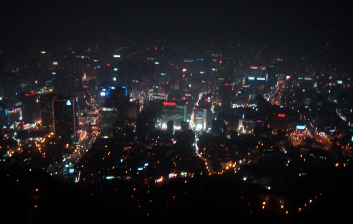 Seoul South Korea at night