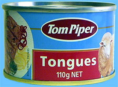 canned sheep tongue