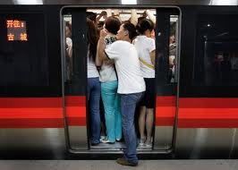 china subway crowds