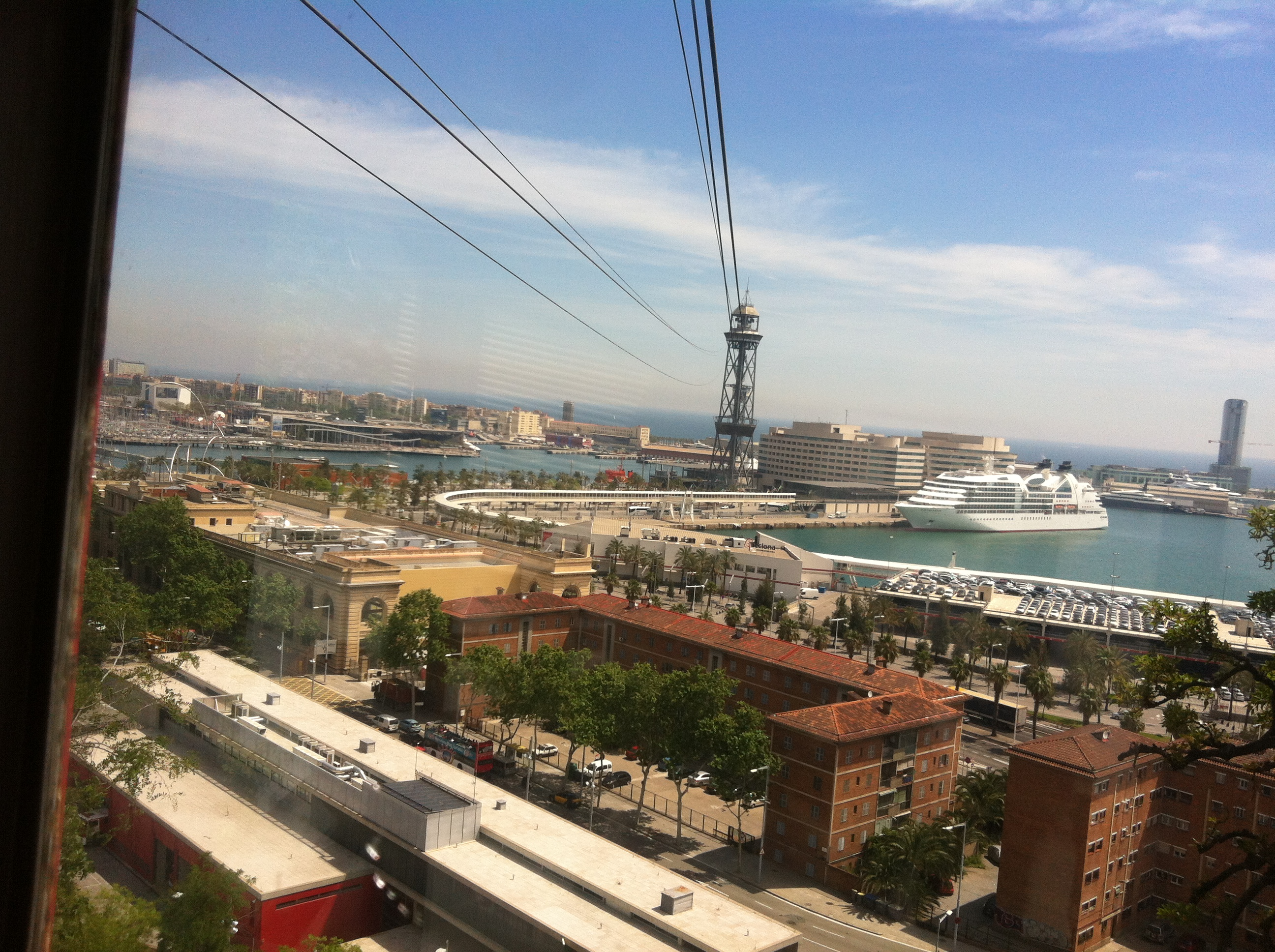 Aerial tram to water