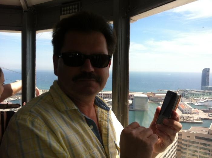 John Rieber on aerial tram