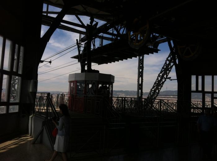 aerial tram tower interior