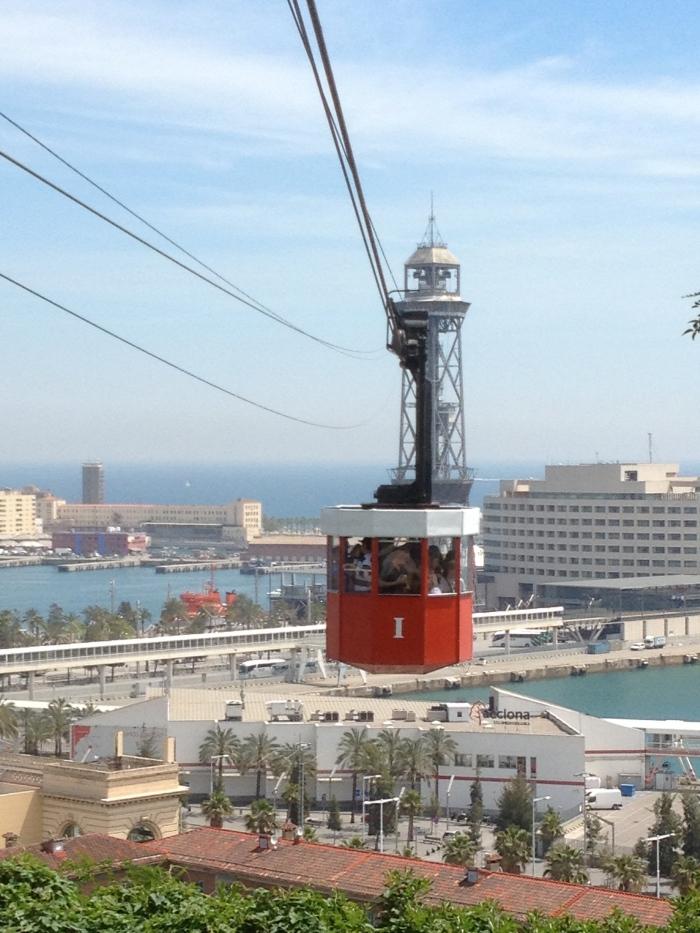 aerial tram in air