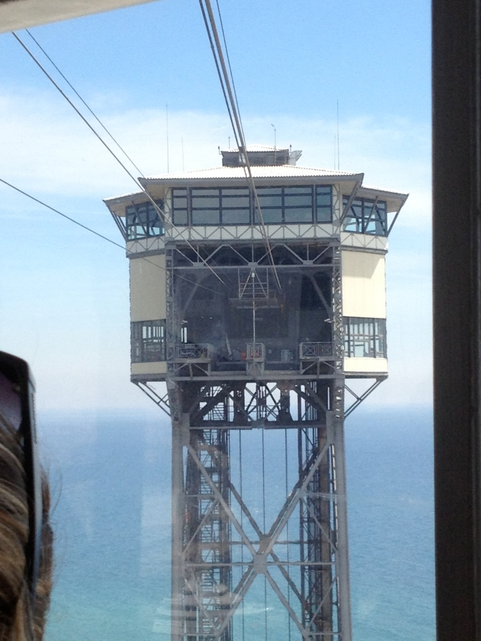 Aerial tram tower approaches