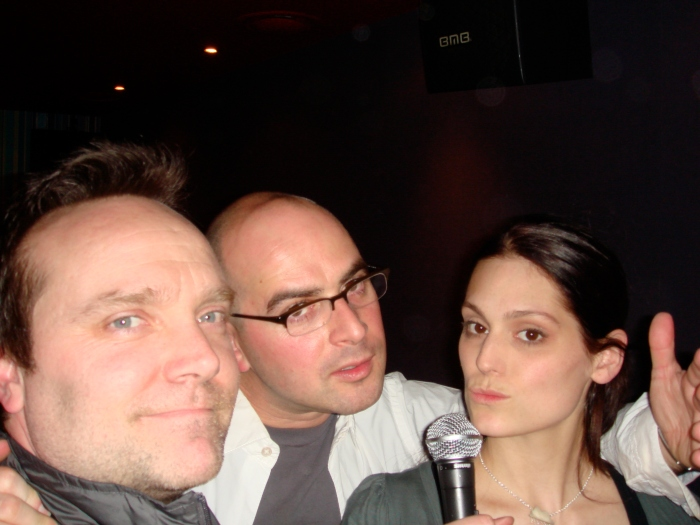 Morgan Webb karaoke