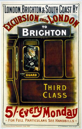 classic London train poster