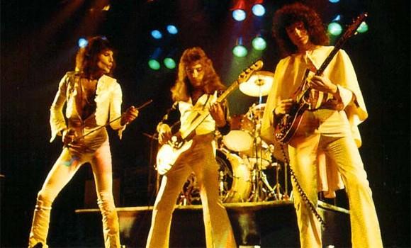 Queen performing