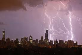 Chicago lightning storm