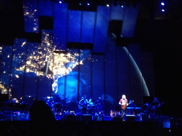 Joe Walsh performing with the eagles