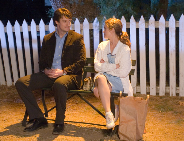 Waitress movie image Keri Russell and Nathan Fillion