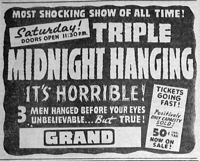 vintage midnight movie ad