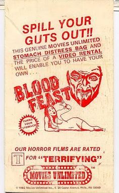 Blood Feast Vomit Bag