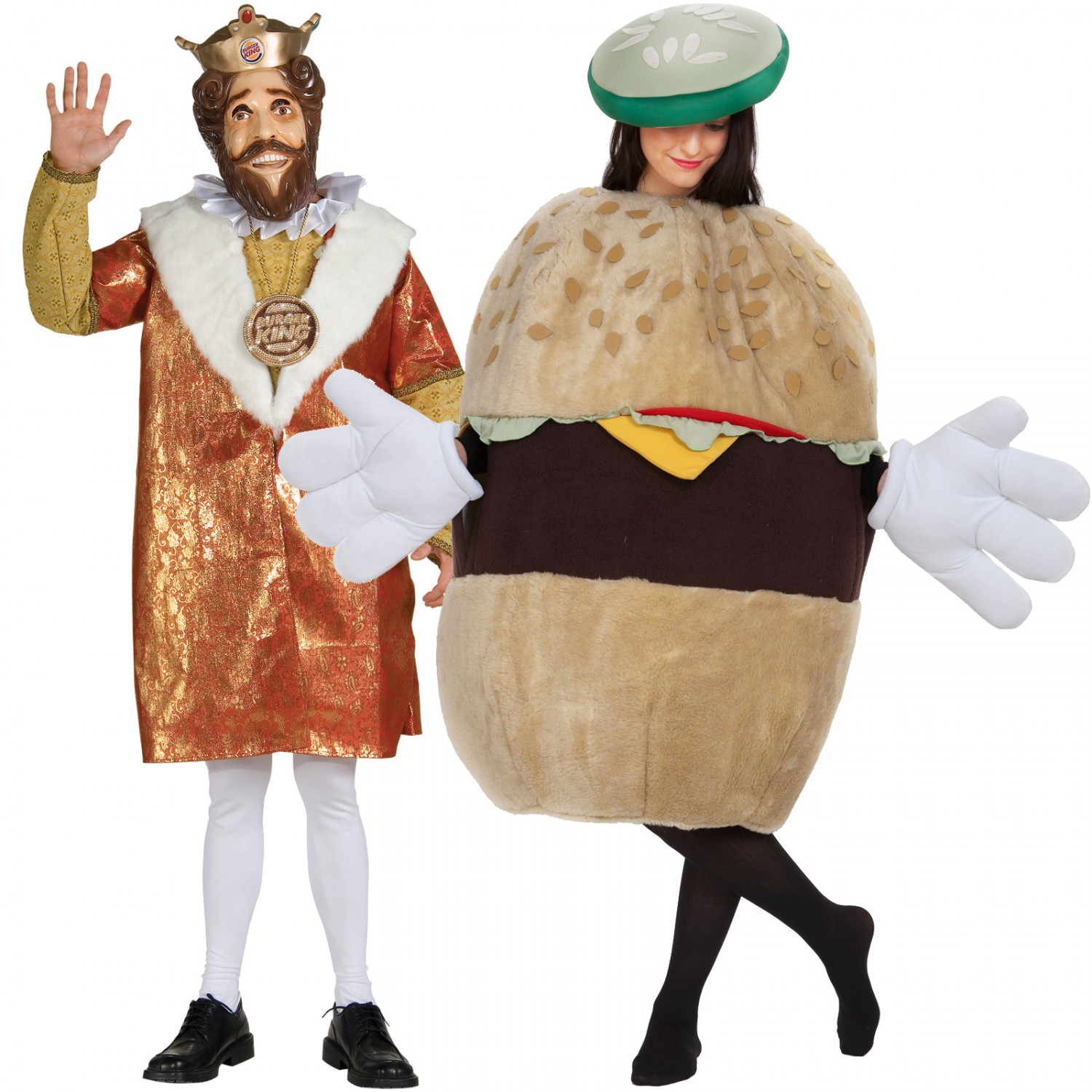 burger king and burger couples costume