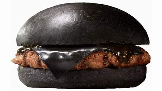 burger king all black cheeseburger