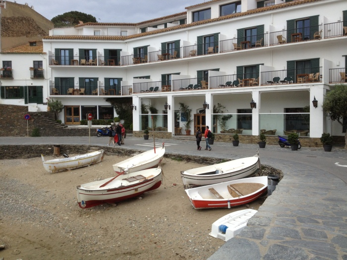 Cadaques boats on beach