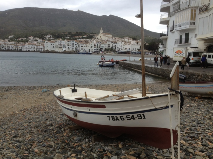 Cadaques single boat on beach