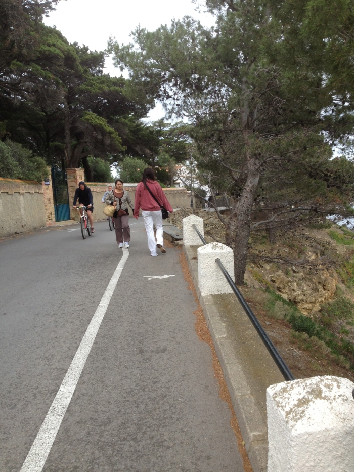 Cadaques walking road outside town