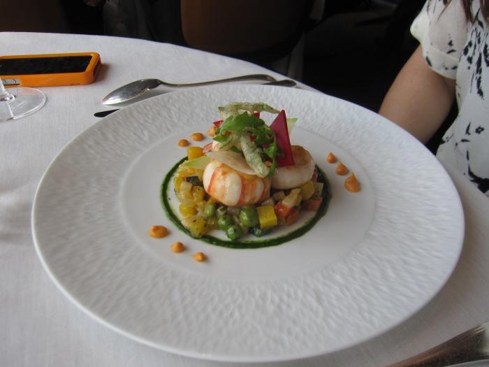 Jules Verne restaurant langoustine