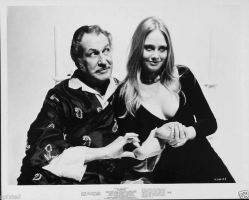 Linda Hayden and Vincent Price