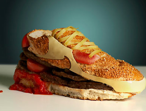 Nike cheeseburger shoe