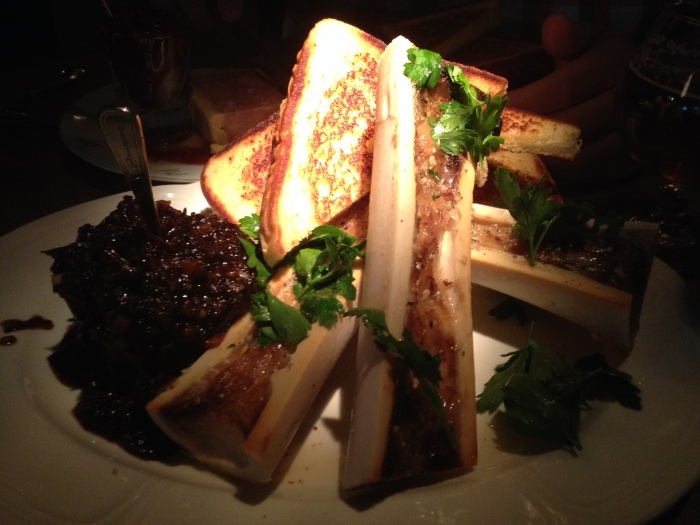 Au Cheval roasted bone marrow