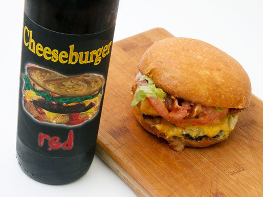 Cheeseburger Red wine