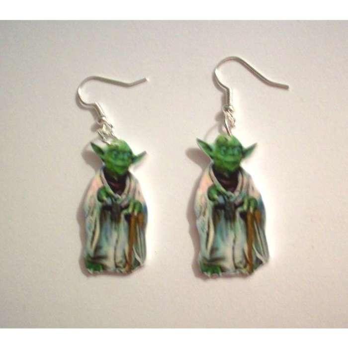 star wars earrings yoda
