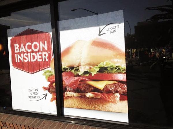 Bacon Insider burger