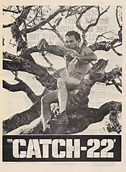 Catch-22 naked in a tree