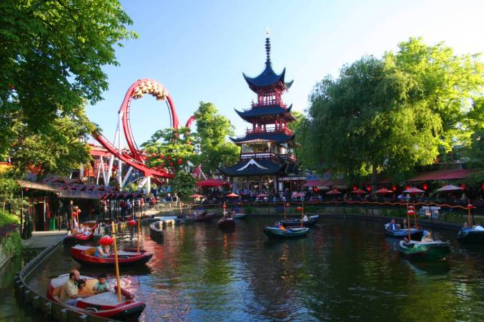 Copenhagen Tivoli Garden tourist attraction