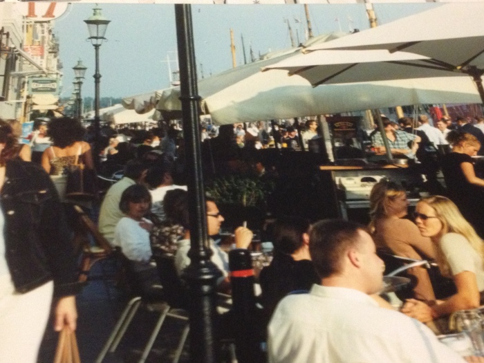 packed terrace