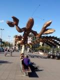 Barcelona waterfront art