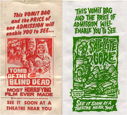 horror movie vomit bags