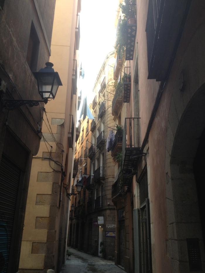 ancient Barcelona alleys