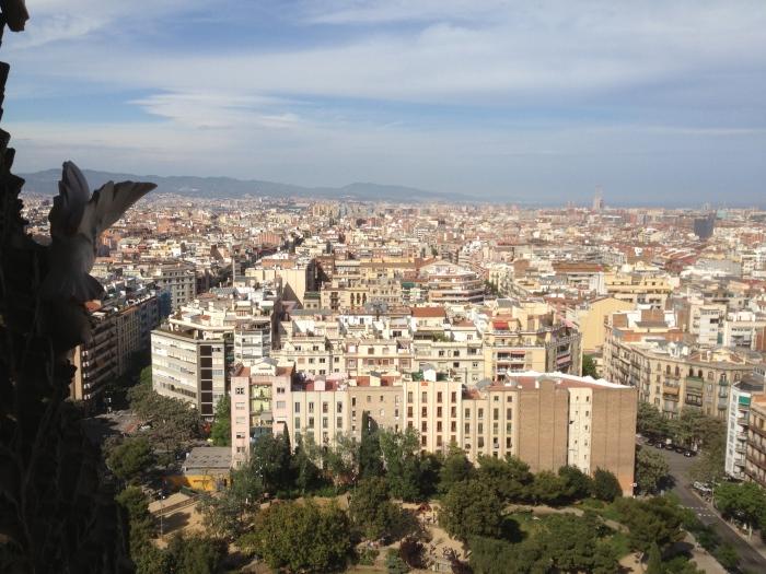 Barcelona Spain skyline from Sagrada Famiglia