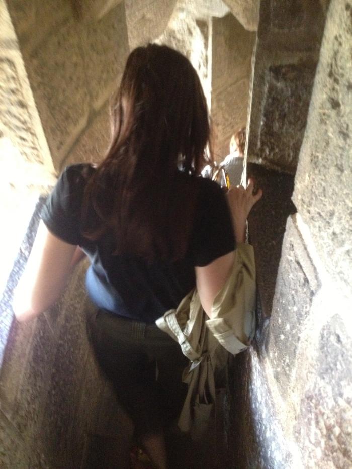 climbing Sagrada Famiglia tower