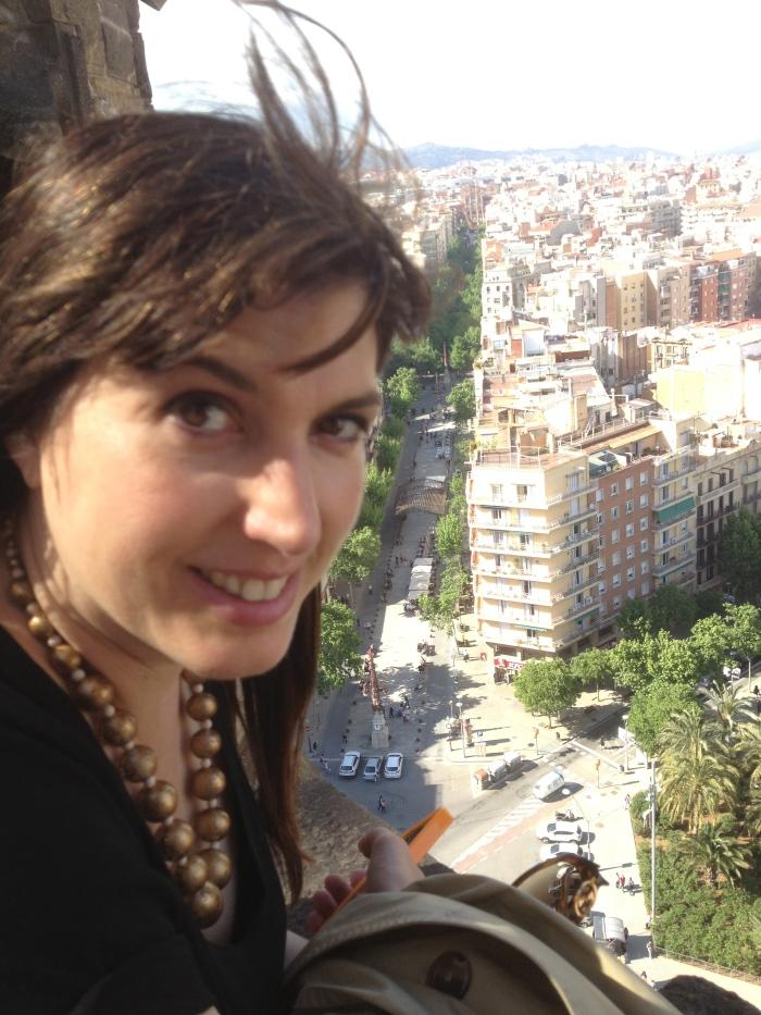 climbing Sagrada Famiglia