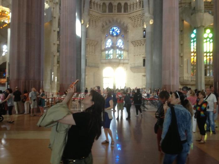 Massive Sagrada Famiglia cathedral floor