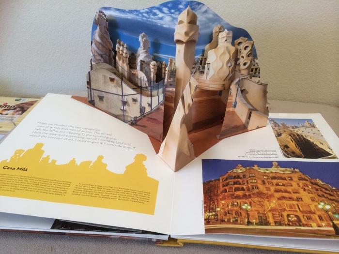 pop up Gaudi architecture
