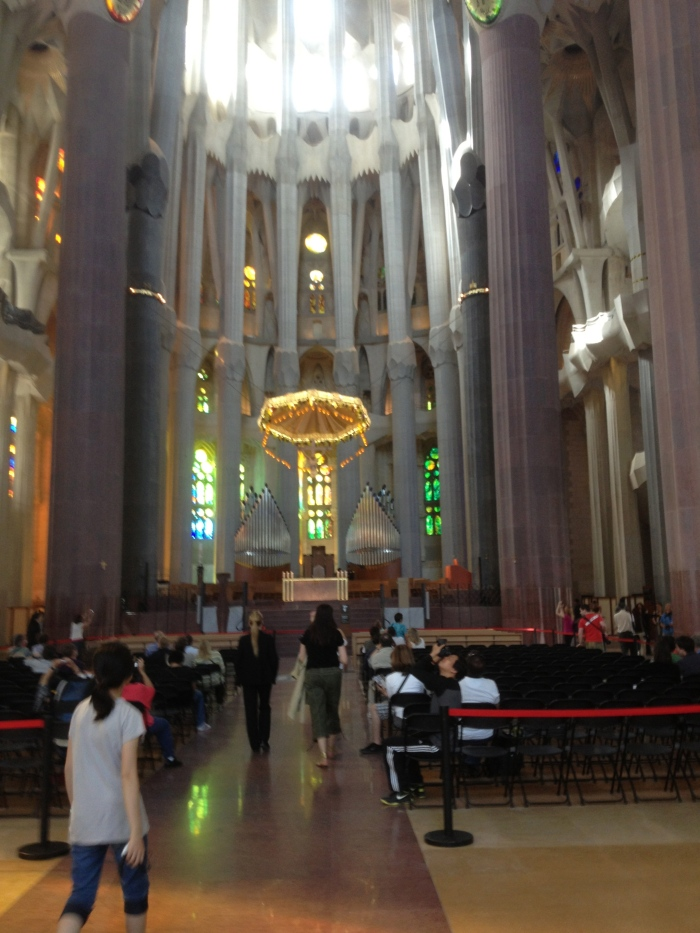 Sagrada cathedral with altar