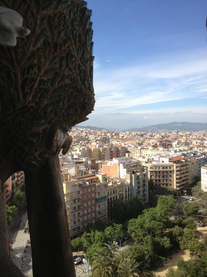 sights of Barcelona from Sagrada Famiglia
