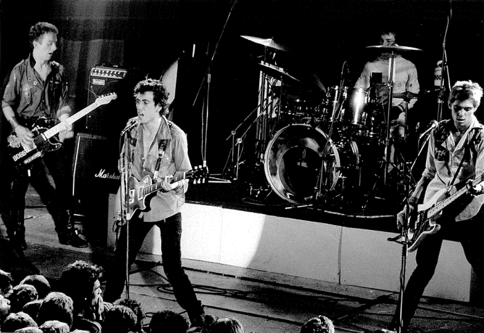 The Clash performing