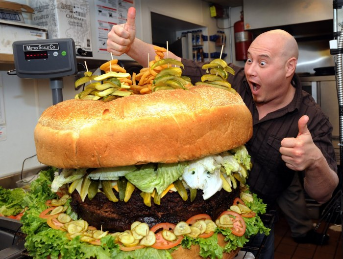 world's largest cheeseburger