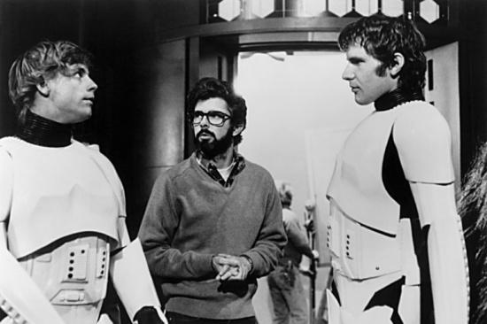 George Lucas directing Star Wars